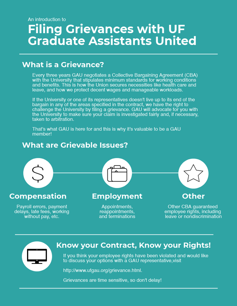 Contract Enforcement - Graduate Assistants United at UF